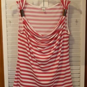 KENNETH  COLE stretch striped  top